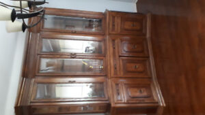 Dining room set, table with 6 chairs and China cabinet.