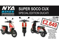 SUPER SOCO CUX - DUCATI SPECIAL - - - BRAND NEW - - - ELECTRIC 50cc EQUIVALENT
