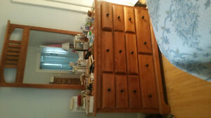 Matched dresser and chest of drawers