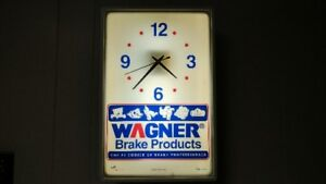 Vintage Wagner Brake Products Light up Wall Clock