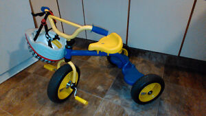 Children's Metal-Frame Tricycle and Helmet