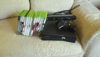 Xbox kinect with 14 games