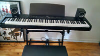 Yamaha P80 Keyboard, Pedal, Speakers, Stand & Adjustable Chair