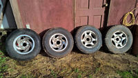 4 Studded m+s winter truck tires on Ford OEM rims