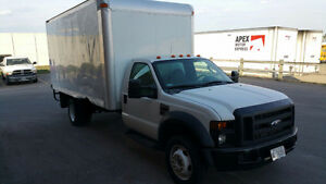 2008 FORD F-450 CUBE TRUCK, GOOD CONDITION