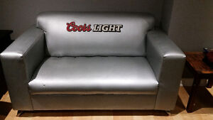 Coors Light Couch-light grey/silver