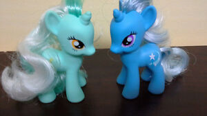 "My Little Pony Trixie Lulamoon & Lyra Heartstrings 3"" tall"