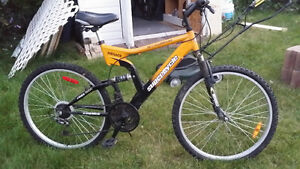 for sale great bike colour yellow strong great new condition
