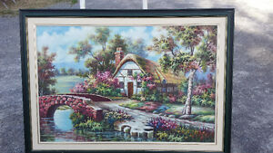LARGE CANVAS OIL PAINTING  reduced price