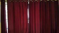 Beautiful Wine Colored Curtains