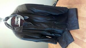 Men's Leather Mid Lenght Coat -  READ THE AD!