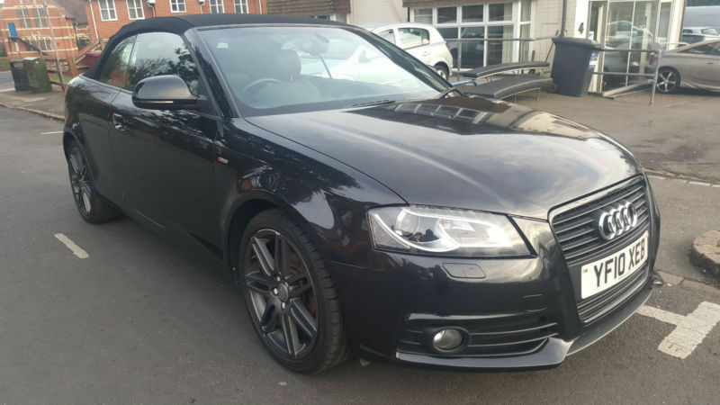 2010 audi a3 cabriolet 2 0tdi s line black edition automatic diesel convertable in reading. Black Bedroom Furniture Sets. Home Design Ideas