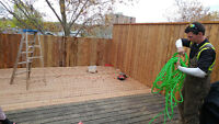 Do you need a deck or fence or flower bed