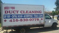 FULL AND COMPLETE DUCT CLEANING ALL VENTS & ALL INTAKS JUST 90$