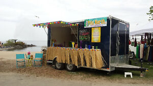 14 ft Concession Trailer Used for Smoothie Business