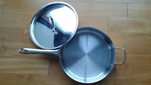 Stainless steel lagostina heavy duty frying pan