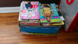 Box full of Cosmo magazines