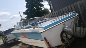 sell or trade , 16 foot peterborough and trailer