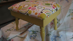 Yellow Polka Dot Footstool