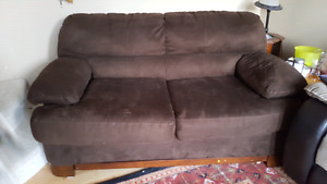 Comfy suede couch