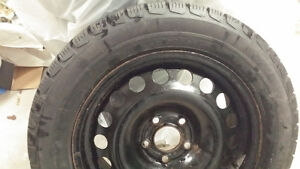 Winter tires on rims for sale 215/55/16