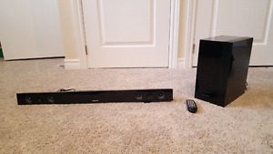 Samsung sound bar with wireless subwoofer