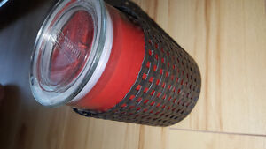 Tall large jar candle wrap. Woven metal