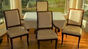 Set of 4 large size kitchen chairs exc. cond orig. $2000 +tax