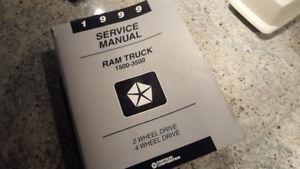 Shop manual, manuel d'atelier Dodge RAM 1999