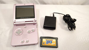 Nintendo Game Boy GBA SP 101 Back Lit Rose Mario 3 Chargeur