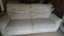 3 seater modern oatmeal sofa in good condition