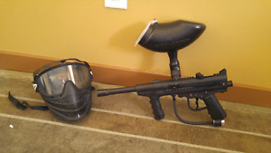 Brass Eagle Paintball Gun and Mask