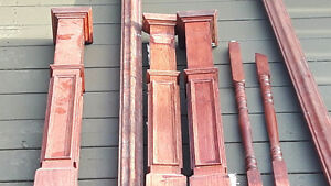 Solid oak spindles and posts