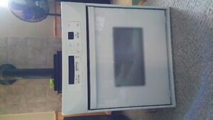 """27"""" wall oven ,30"""" cook top with down draft and dishwasher"""