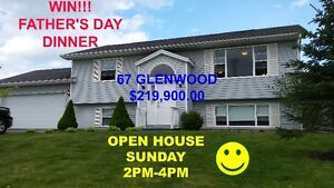WIN FATHER'S DAY DINNER! OPEN HOUSE SUNDAY 2PM-4PM 67GLENWOOD DR