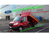 2015 FORD TRANSIT 2.2TDCi 125ps 350 MWB RED DIESEL HIGH CAGE TIPPER