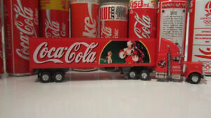 coca-cola tractor trailer  die cast good quality $100