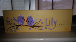 Girls name plaque - Lily