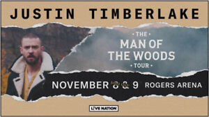 JUSTIN TIMBERLAKE @ Rogers Arena Fri Nov 9th - FLOORS BELOW COST