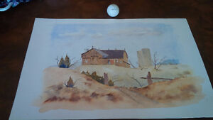 Original Water Colour by Hans Heist, Ready For Framing Kitchener / Waterloo Kitchener Area image 1