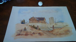 Original Water Colour by Hans Heist, Ready For Framing