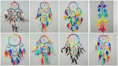 Farbe Träume (Dreamcatcher Traumfänger Träume Rainbow Regenbogen 7 Chakra Farben Chakren Yoga)