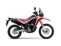 2019 NEW Honda CRF250 Rally 6.9% APR £89/mth CRF 250cc Offroad Green Laning