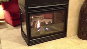 3 Sided Gas Fireplace