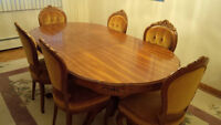 Beautiful Dining Set - Table, Buffet & 6 Chairs