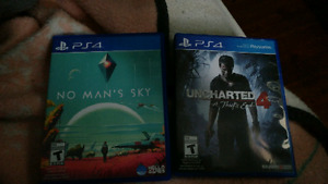 No mans sky and uncharted 4 for sale trade