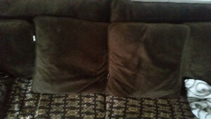 Twin size Couch/Sofa- chocolate brown-fabric