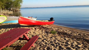 Ranger canoe 18.5 ft  with motor and trailor