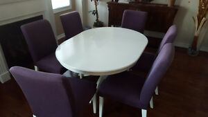 INGATORP Extendable Dining Table and 6 Henriksdal Chairs