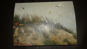 Unique keepsake box with 2 paintings signed by artist D. Delaney
